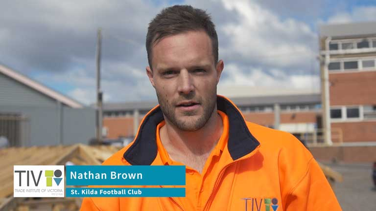 Trade Institute of Victoria – Footballers Learn a New Trade – Nathan Brown